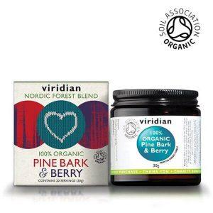 Viridian ekološki napitek z lubjem bora in jagodičevjem