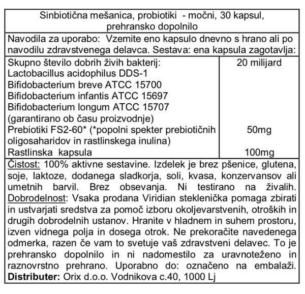 Viridian probiotiki močnejši