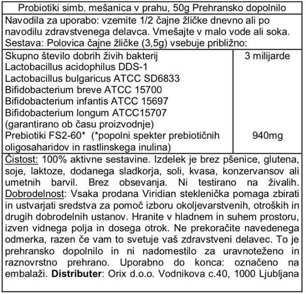 Viridian probiotiki dnevna simbioza v prahu