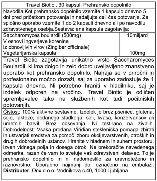 Viridian travel probiotiki